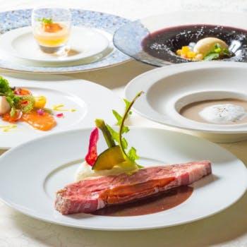【カジュアルコース】メインは選べるアンガス牛リブロースのローストor旬鮮魚の1皿!季節のデザート付全5品
