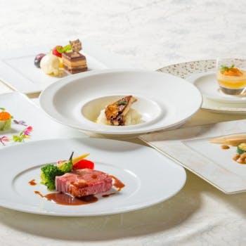【スペシャルコース】旬鮮魚の1皿&アンガス牛リブロースのローストのWメイン!前菜、デザート付全6品