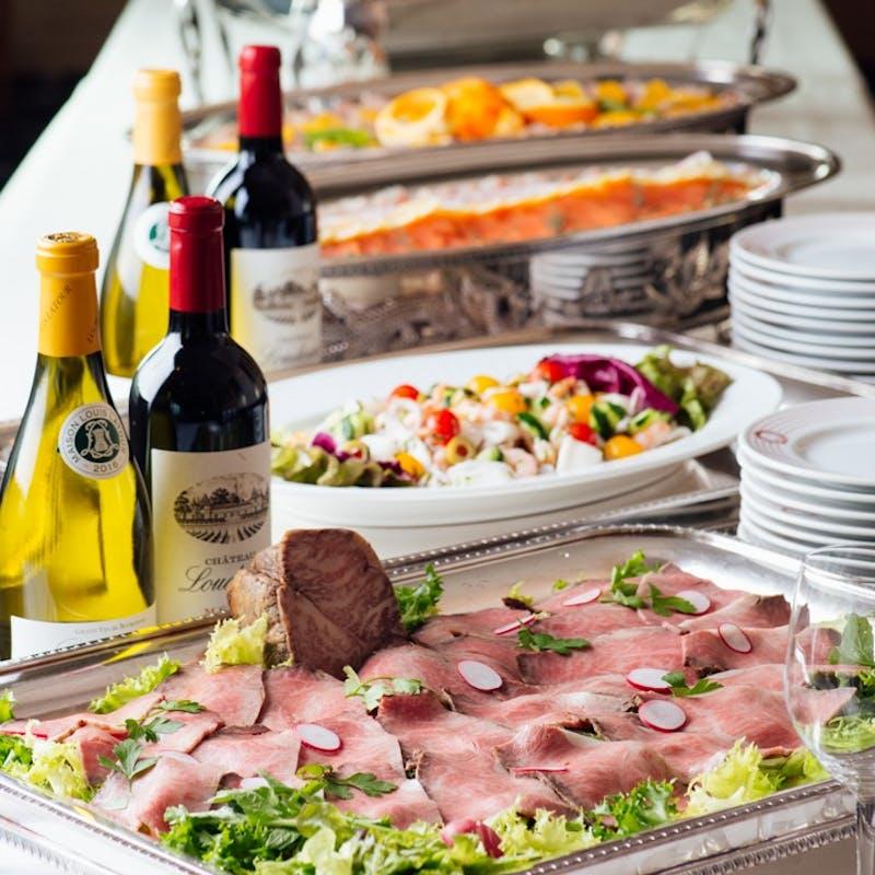 【パーティープラン ヴェール】食事スタイルが選べる全10品+フリードリンク(クープドール)