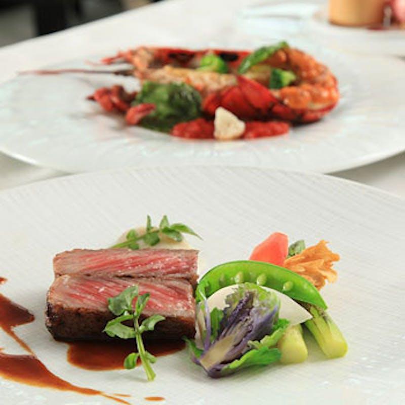 【Lunch C Course】窓側確約!スペシャリテ、オマール海老、和牛フィレ肉など全6品+乾杯スパークリング
