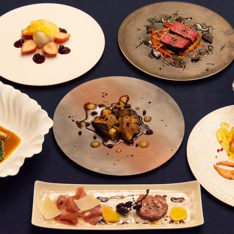 ワインペアリングと愉しむ旬の食材を用いた季節のフルコース全7品