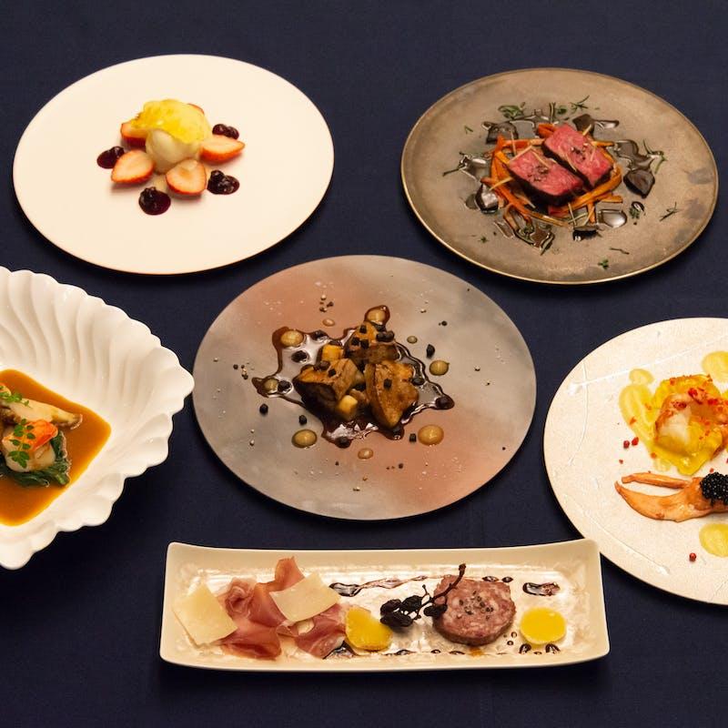 高級食材をふんだんに使った季節のフルコース全7品(ダイニング席・1日2組)