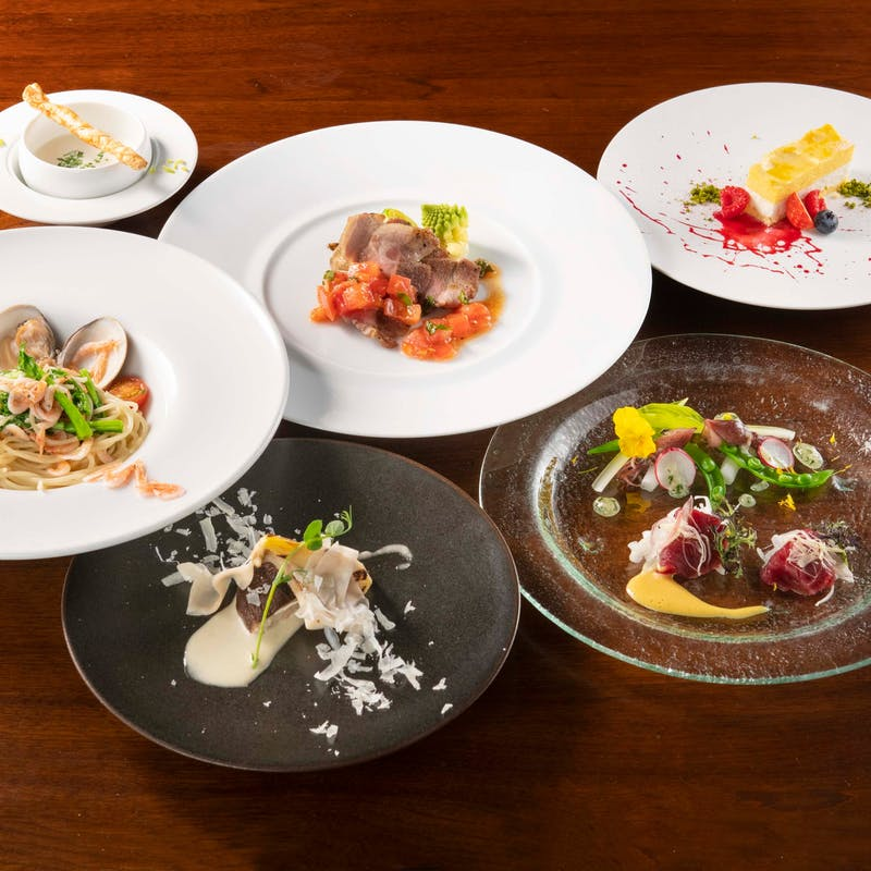 【旬の食材フルコース】国産熟成肉・季節パスタなど全6品+選べる1ドリンク