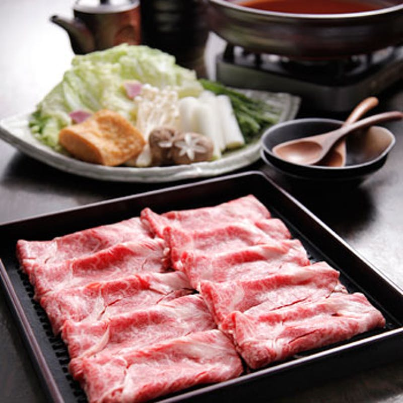 NEW【和】A5ランク黒毛和牛サーロインのすきやき鍋を堪能 全7品(個室確約)