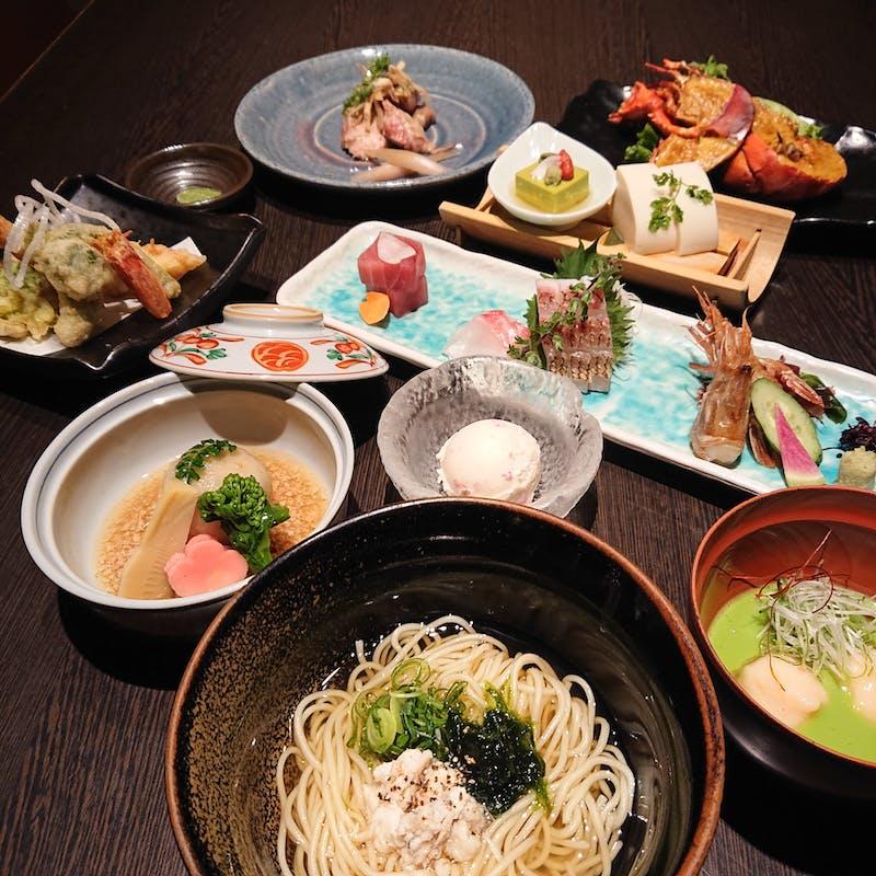 【桜コース】天然桜鯛と海老満載の豪華会席 (個室確約 x 接待・会食に)
