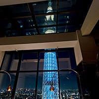 東京スカイツリー(R)が臨める、地上150mの自然派イタリアン