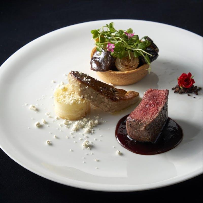 【安全対策×個室確約】オリーブ牛フィレ肉、甘鯛、オマール海老など最高峰コース+乾杯ソフトドリンク