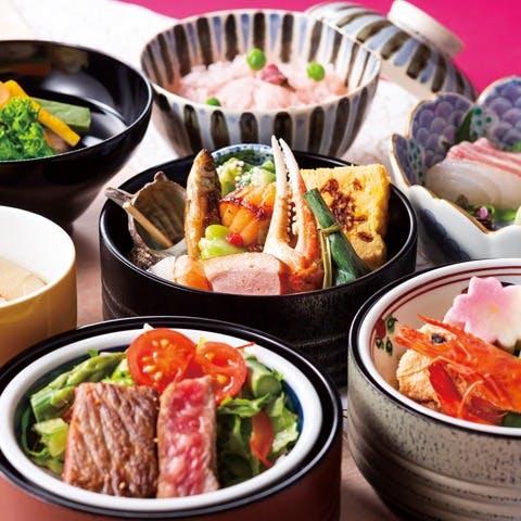 料理長厳選!旬食材を使用する月替わりの日本料理