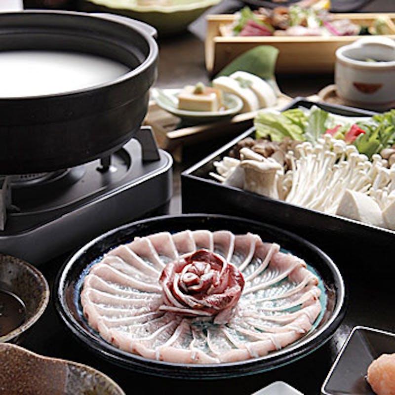 【豪華鍋コース】豆乳しゃぶしゃぶや白王豚ロースの西京焼き等を味わう 全7品