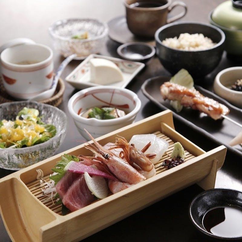 【ランチ御膳】手作り豆腐や鮮魚料理,旬菜の天麩羅など全9品(個室確約)