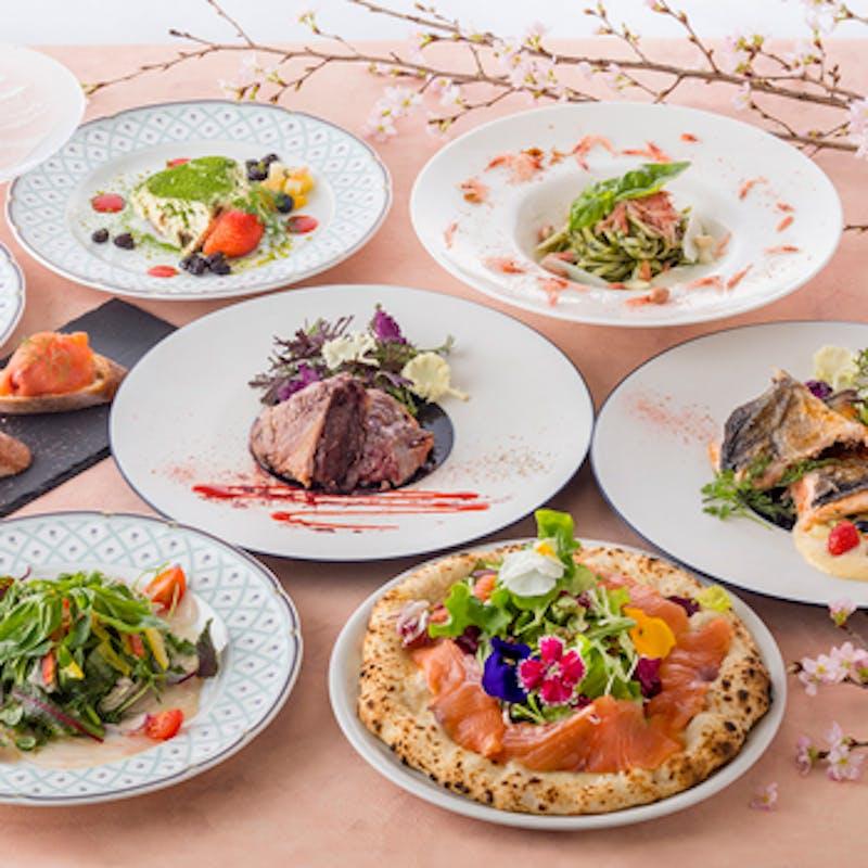 3組限定【梨フェア】梨食べ尽しコース、前菜、ラビオリなど 選べるデザートまでついた全5品フルコース