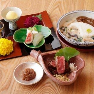 和の素材をふんだんに使った新感覚の京料理