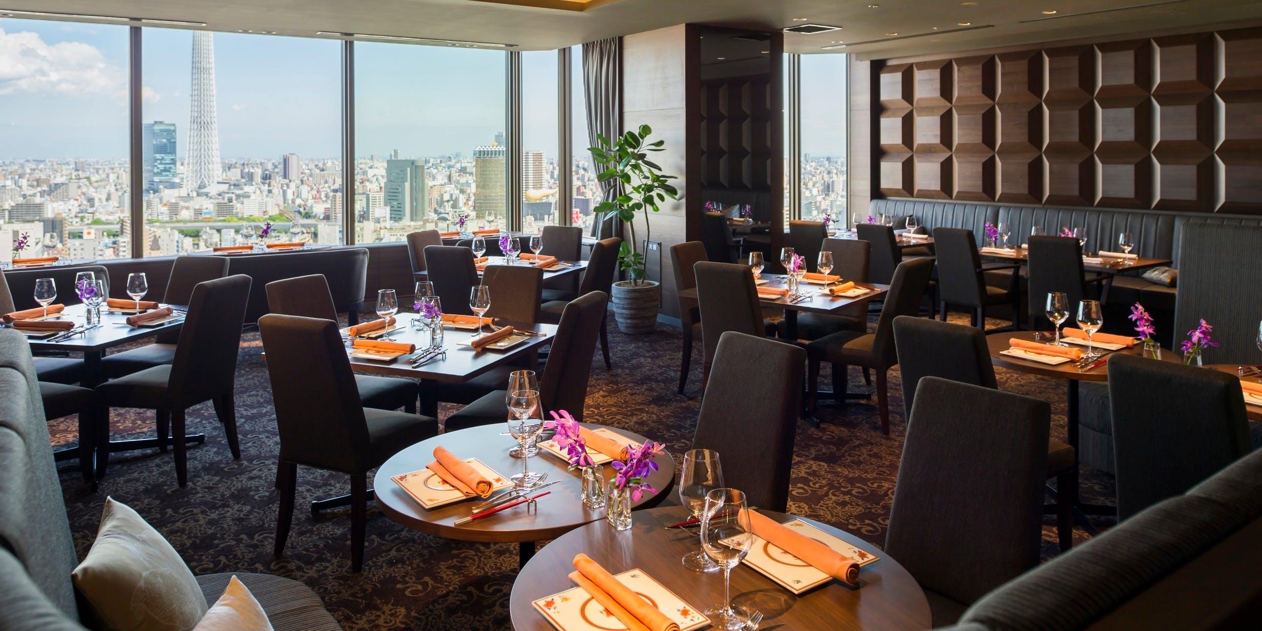 記念日におすすめのレストラン・THE DINING シノワ 唐紅花&鉄板フレンチ 蒔絵/浅草ビューホテル27Fの写真1