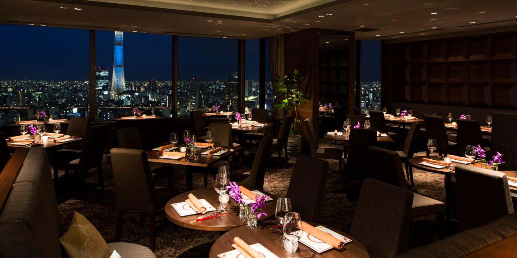 記念日におすすめのレストラン・THE DINING シノワ 唐紅花&鉄板フレンチ 蒔絵/浅草ビューホテル27Fの写真2