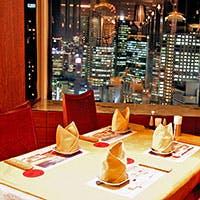 32階からの眺望を楽しみながら天然の伊勢海老料理に舌鼓