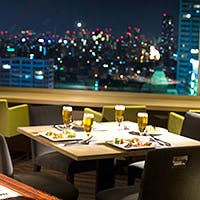 都シティ大阪天王寺 最上階 眼下に見下ろす景色と共にお食事をお楽しみください