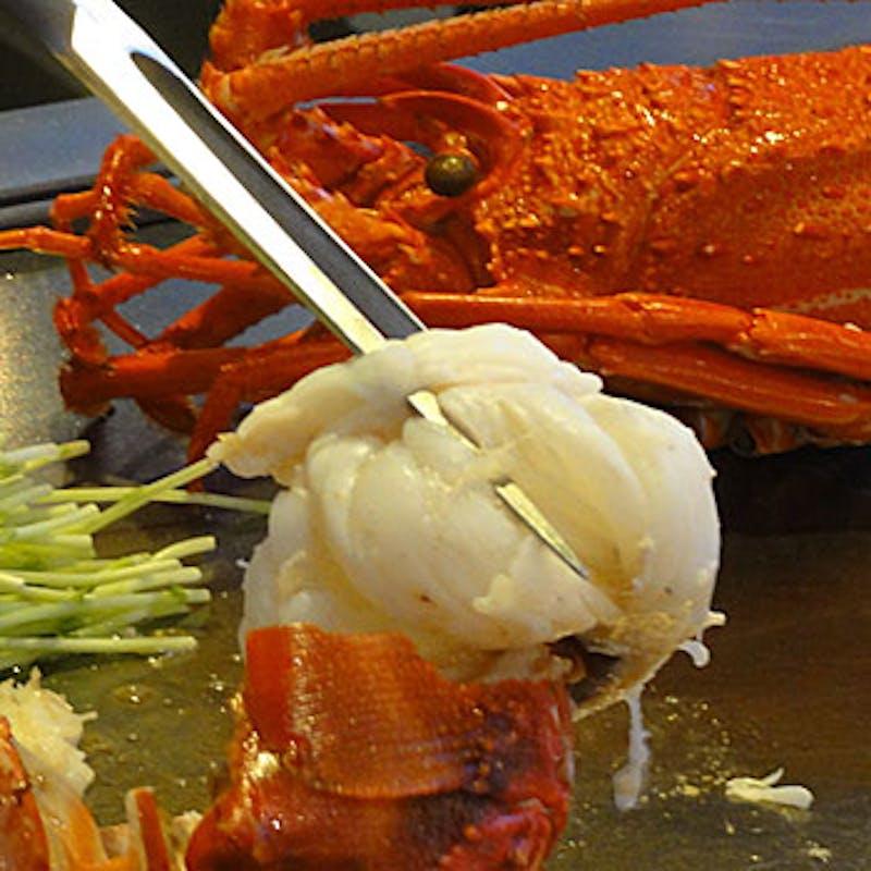 【慶び】 魚介三種の鉄板焼と黒毛和牛などお楽しみ頂ける全8品(WEB限定)