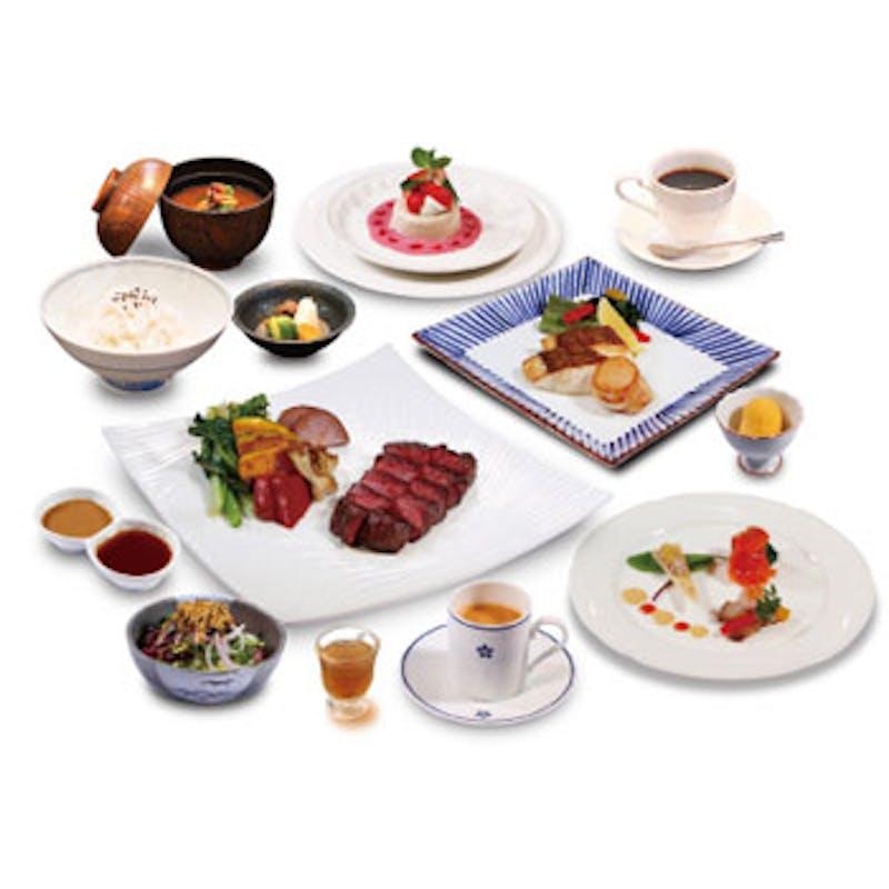【薔薇コース】伊勢海老のスープ、鮮魚の鉄板焼き、伊勢海老の鉄板焼など