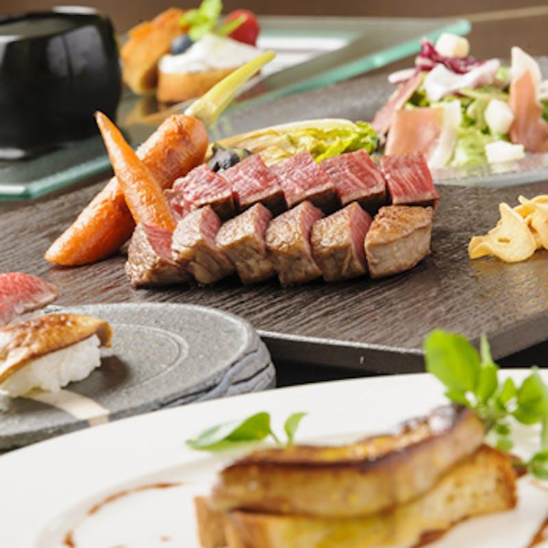 【スペシャルディナーコース9月】フォアグラ・松茸・蟹・和牛など(カウンター限定)