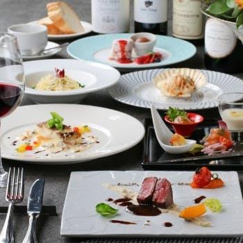 【一休限定】乾杯スパークリング付!前菜5種、お魚料理、お肉料理など全6品レオナルドコース