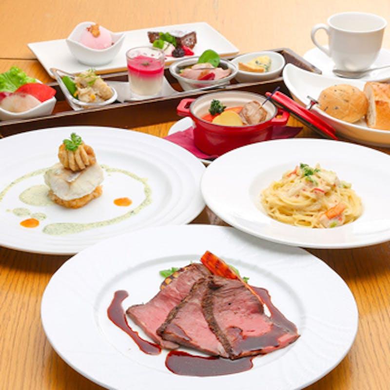 【彩~irodori~/人気ランチフルコース】前菜5種、パスタ、魚&肉料理など全6品