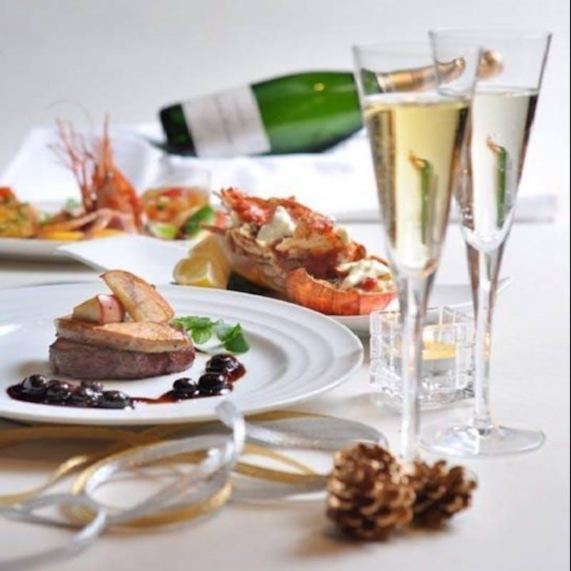 【アマート/記念日】乾杯ワイン&メッセージケーキ付!オマール海老、牛ロース等全6品