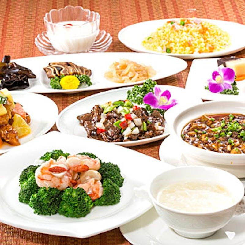 【柏コース】前菜、フカヒレスープ、炒飯など全9品+選べる1ドリンク