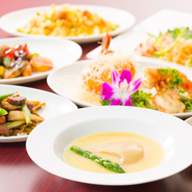 【薊門(けいもん)コース】フカヒレの姿煮や海老料理など全11品(6月限定・特別価格)