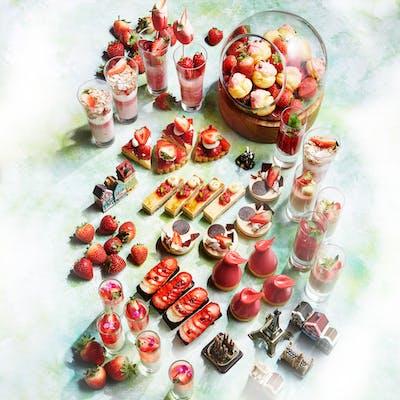 インターコンチネンタルホテル大阪の2021年のいちごビュッフェ、ストロベリースイーツブッフェ「Strawberry Adventure」