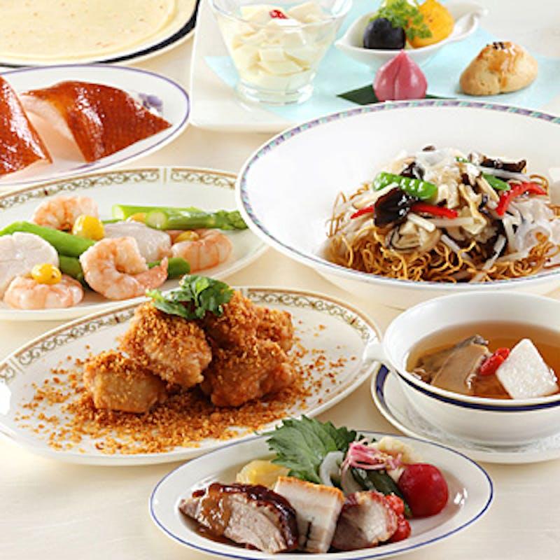 【翡翠】旬の食材を活かした料理長特選コース+選べる1ドリンク