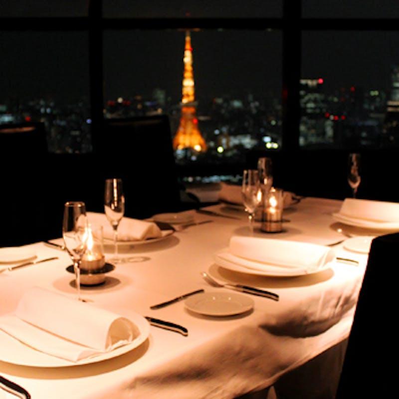 【Anniversary Plan】全7品+乾杯酒+特製アニバーサリーボックスケーキ(東京タワーが望める個室確約)