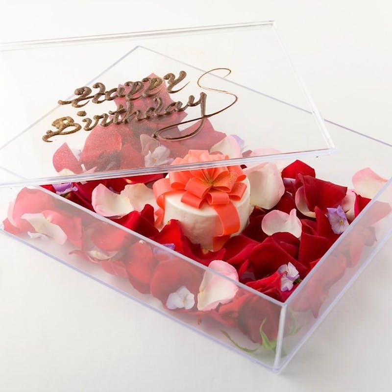 【Anniversary Plan】Wメイン含む全7品 【窓際席確約】+乾杯スパークリング+アニバーサリーBOXケーキ