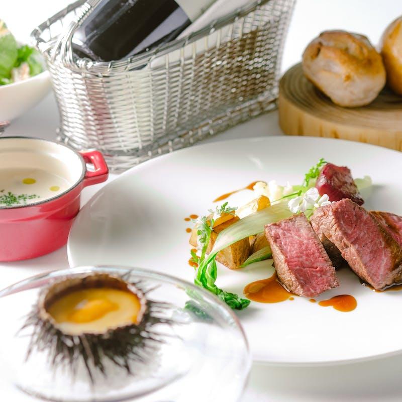 【テイクアウトメニュー】+国産牛フィレ肉のステーキ(セットB・テイクアウト専用プラン)