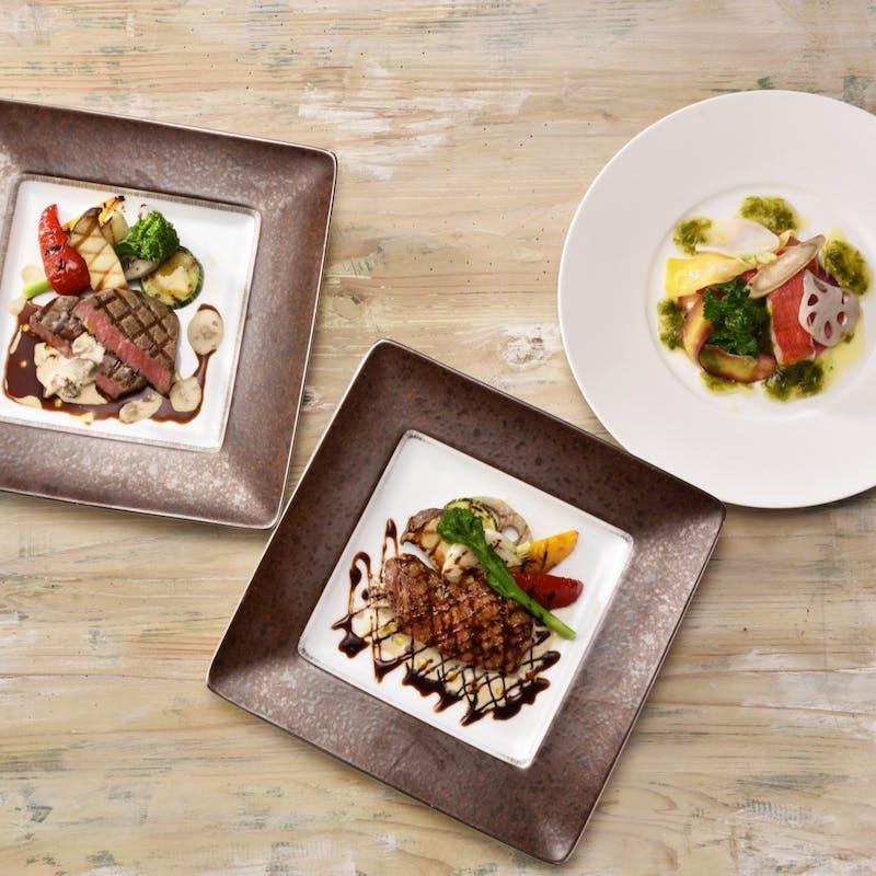 【夢見桜】前菜、パスタorリゾット、メインが選べる全4品