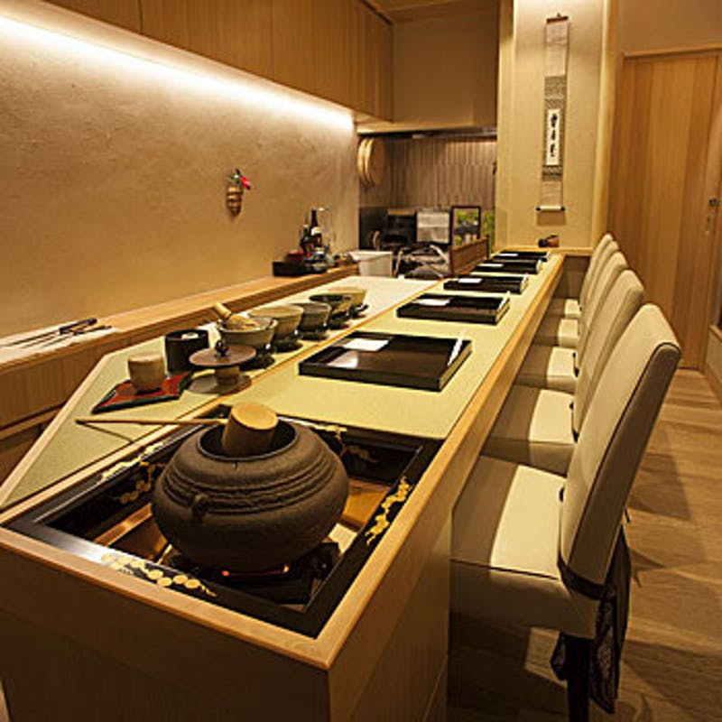 【ディナー茶懐石コース】焼き物、握り寿司など全8品+1ドリンク