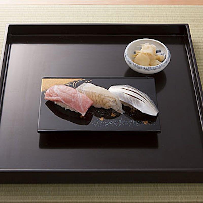 【四季の茶懐石コース】握り寿司、焼き物など全8品+乾杯ドリンク