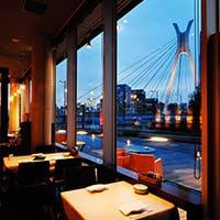 隅田川と中央大橋を望む絶好のロケーション