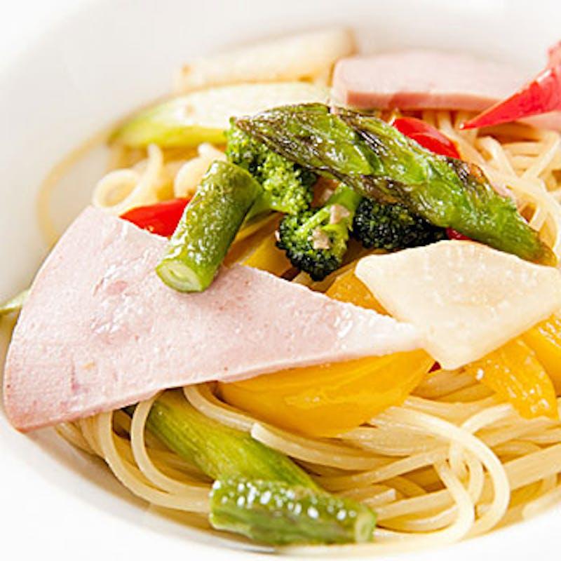 【プリフィクスコース】パスタ・リゾット、お魚&お肉選べるWメイン5品+スパークリング含選べる1ドリンク