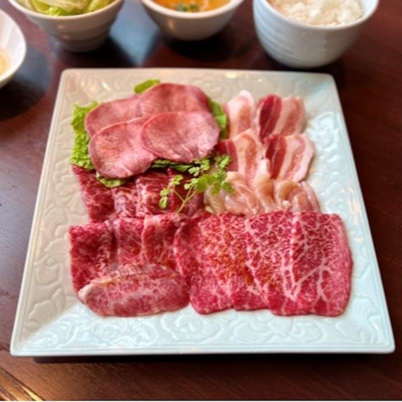 New【星遊山プチご褒美ランチ】牛タン・黒毛和牛カルビ・PRIMEハラミなどお肉6種