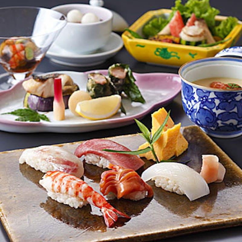 寿し懐石「雪」~加賀懐石と江戸前寿司を合せて堪能~+1ドリンク付き!