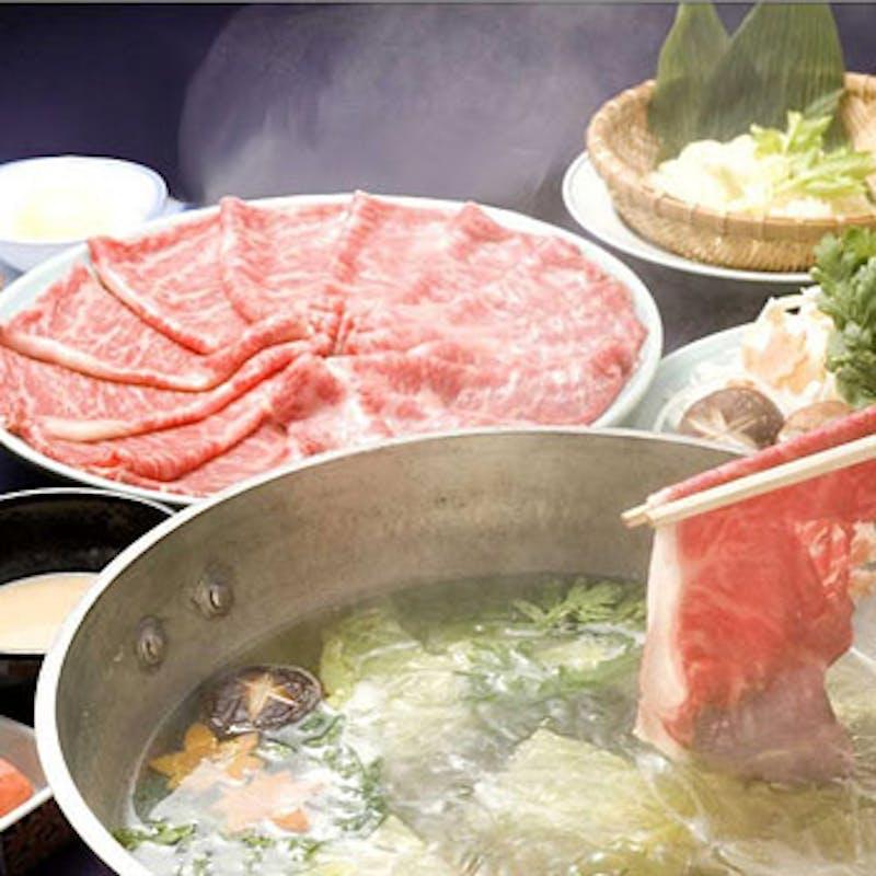 【牛しゃぶしゃぶコース】+お造りまたは天ぷら&1ドリンク付き!(「松」)
