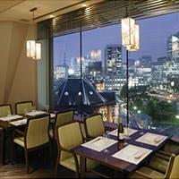 東京駅を一望出来る。東京駅丸の内北口の目の前にある丸ノ内ホテル7階