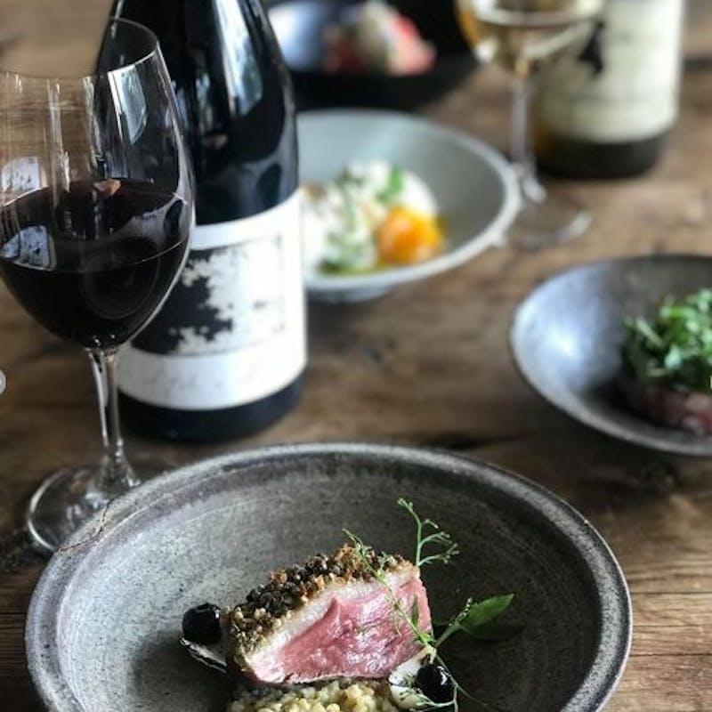 【シーズナルテイスティングコース】旬素材、お魚&お肉のWメイン、ピラフ等全8品+ビオワイン4種