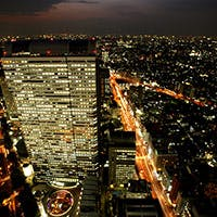 新宿摩天楼の夜景を一望