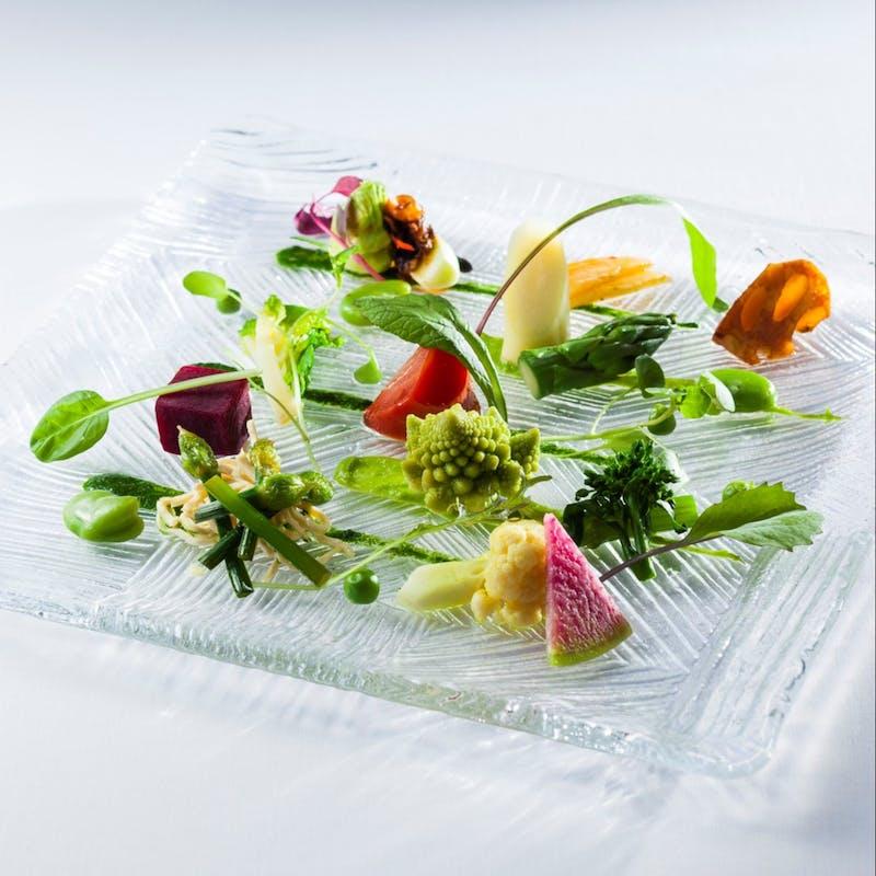 【翠燕】野菜が主役 すべて季節野菜のみで構成された完全ビーガン 全8品+選べる1ドリンク
