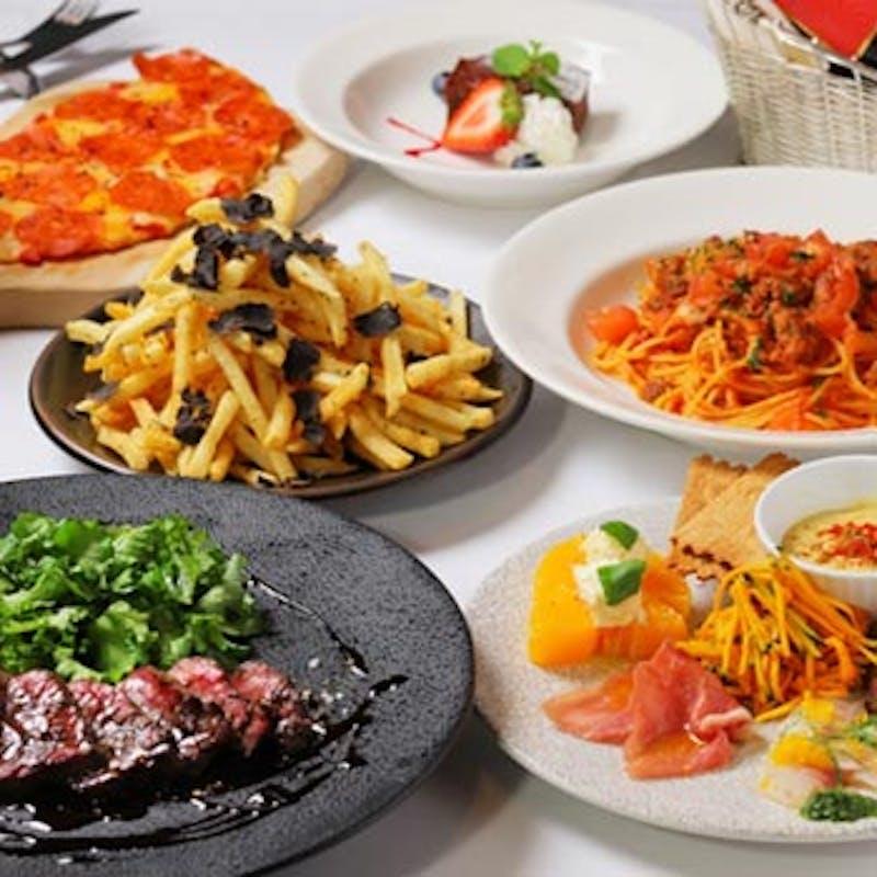 【プレミアムコース】メインは北海道産牛肉のグリル!前菜6種など全6品