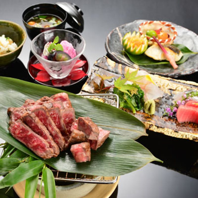 【神戸牛ステーキコース】+乾杯シャンパンor選べる利き酒