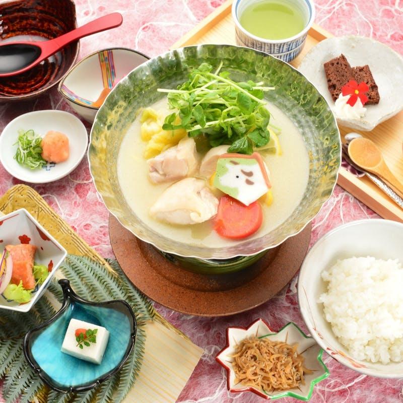 【名物水炊き膳】治作伝統の水炊きを小鍋で堪能【グレードアップ】+ワンドリンク