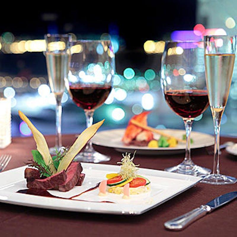 【プリフィックスDinner正餐コース】選べるメイン・お食事など全6品+3時間飲み放題(期間限定)