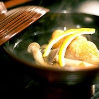 料理人の道を極めてきた職人が、思いを込めて作る質の高い会席料理